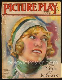 3r079 PICTURE PLAY magazine March 1928 artwork of Esther Ralston by Modest Stein!