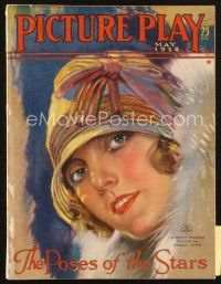 3r081 PICTURE PLAY magazine May 1928 artwork of pretty Dorothy Mackaill by Modest Stein!