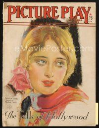 3r084 PICTURE PLAY magazine October 1928 art of pretty Dolores Costello by Modest Stein!