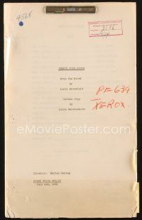 3r116 24 HOURS first white draft script July 2, 1931, screenplay by Louis Weitzenkorn!