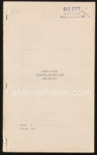 3r117 ACCENT ON YOUTH censorship dialogue script June 18, 1935, screenplay by Claude Binyon!