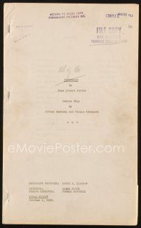 3r119 ALL OF ME final script October 6, 1933, screenplay by Buchman & Mitchell, Chrysalis!