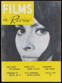 3r033 LOT OF 30 FILMS IN REVIEW MAGAZINES '63-65 many of the top stars of the early 1960s!