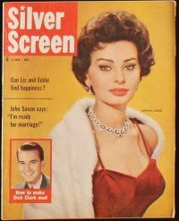 3r030 LOT OF 10 SILVER SCREEN MAGAZINES '58-59 Liz Taylor, Sophia Loren, Doris Day