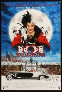 3y003 101 DALMATIANS DS 1sh '96 Walt Disney live action, Glenn Close as Cruella De Vil!