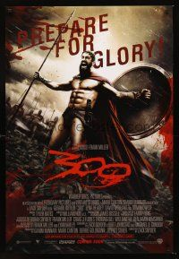 3y009 300 advance English 1sh '06 Zack Snyder directed, Gerard Butler, prepare for glory!
