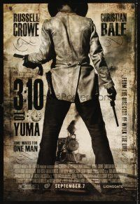 3y011 3:10 TO YUMA advance 1sh '07 cowboys Russell Crowe & Christian Bale, cool design!