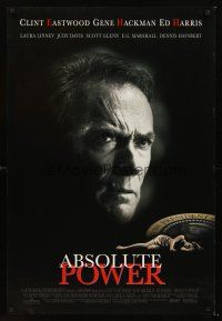 3y021 ABSOLUTE POWER DS 1sh '97 star & director Clint Eastwood, written by William Goldman!