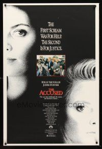 3y022 ACCUSED 1sh '88 Jodie Foster, Kelly McGillis, the case that shocked a nation!