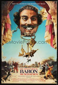 3y025 ADVENTURES OF BARON MUNCHAUSEN 1sh '89 directed by Terry Gilliam, John Neville!