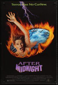 3y029 AFTER MIDNIGHT 1sh '89 Marg Helgenberger & Marc McClure in psychological horror!