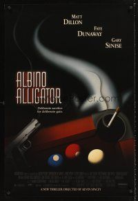 3y033 ALBINO ALLIGATOR 1sh '96 directed by Kevin Spacey, Matt Dillon, art of pool table & gun!