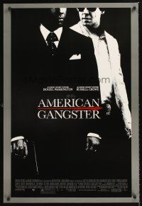 3y041 AMERICAN GANGSTER DS 1sh '07 Denzel Washington, Russell Crowe, Ridley Scott directed!