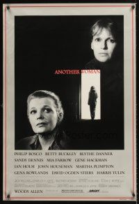 3y043 ANOTHER WOMAN 1sh '88 directed by Woody Allen, w/Gena Rowlands & Mia Farrow!