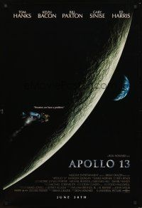 3y045 APOLLO 13 advance 1sh '95 directed by Ron Howard, Houston, we have a problem!