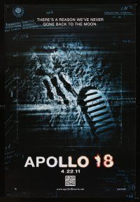 3y046 APOLLO 18 teaser DS 1sh '11 Gonzalo Lopen-Gallego, there's a reason we never went back!