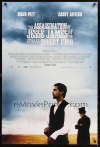 3y048 ASSASSINATION OF JESSE JAMES advance DS 1sh '07 Brad Pitt, Casey Affleck, outlaws!