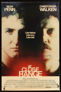 3y049 AT CLOSE RANGE 1sh '86 Sean Penn & Christopher Walken, like father, like son, like hell!