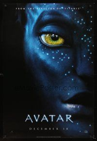 3y053 AVATAR style A teaser DS 1sh '09 James Cameron, cool image!