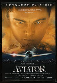 3y054 AVIATOR advance DS 1sh '04 Martin Scorsese directed, Leonardo DiCaprio as Howard Hughes!