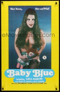 3y056 BABY BLUE 1sh '78 Gina Harow, she's young, hot & wild!