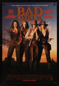 3y060 BAD GIRLS advance DS 1sh '94 cowgirls Drew Barrymore, Madeleine Stowe, Masterson & MacDowell!