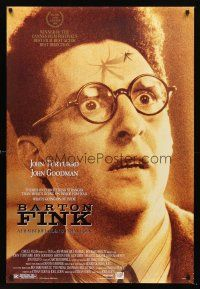 3y066 BARTON FINK DS 1sh '91 Coen Brothers, wacky c/u of John Turturro with mosquito on forehead!