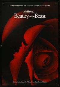 3y078 BEAUTY & THE BEAST int'l IMAX advance DS 1sh R02 Walt Disney cartoon classic, cool art of cast