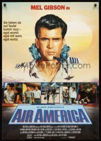 4b042 AIR AMERICA German '90 Casaro art of pilot Mel Gibson flying for the CIA!