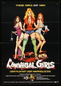 4b054 CANNIBAL GIRLS German '73 Canadian horror comedy directed by Ivan Reitman, sexy art!