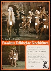 4b055 CANTERBURY TALES German '71 Pier Paolo Pasolini, sexy naked people cavorting!