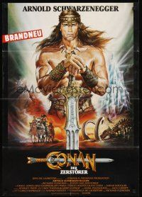 4b060 CONAN THE DESTROYER German '84 Arnold Schwarzenegger is the most powerful legend of all!