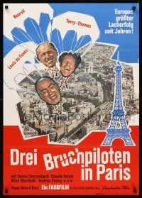 4b068 DON'T LOOK NOW WE'RE BEING SHOT AT German '66 Terry-Thomas, Bourvil, Louis De Funes