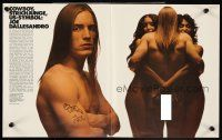 4b036 ANDY WARHOL'S TRASH 3 German 12x19s '71 c/u of barechested Joe Dallessandro, Andy Warhol!