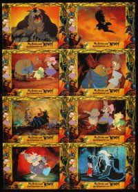 4b026 SECRET OF NIMH set 1 German LC poster '82 Don Bluth, cool mouse fantasy cartoon artwork!