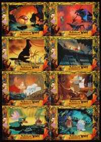 4b027 SECRET OF NIMH set 2 German LC poster '82 Don Bluth, cool mouse fantasy cartoon artwork!
