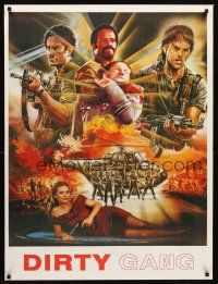 4b010 DIRTY GANG Pakistani '80s wild action artwork, please help identify!