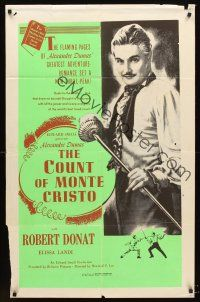 4b005 COUNT OF MONTE CRISTO Trinidadian R60s cool image of Robert Donat as Edmond Dantes!