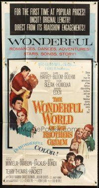 4c022 WONDERFUL WORLD OF THE BROTHERS GRIMM 3sh '62 George Pal fairy tales!