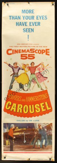 4c014 CAROUSEL door panel '56 more than your eyes have ever seen in CinemaScope 55!