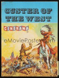 4c070 CUSTER OF THE WEST English program '68 art of Battle of Little Big Horn!