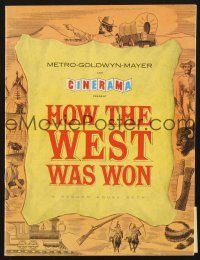 4c071 HOW THE WEST WAS WON English program '62 John Ford classic all-star Cinerama epic, cool!