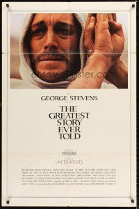 4c028 GREATEST STORY EVER TOLD Cinerama 1sh '65 George Stevens, Max von Sydow as Jesus!