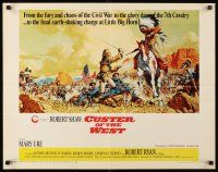 4c037 CUSTER OF THE WEST 1/2sh '68 art of Robert Shaw vs Indians at the Battle of Little Big Horn!