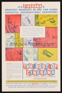4c078 BEST OF CINERAMA herald '63 moments from a decade of the world's greatest entertainment!