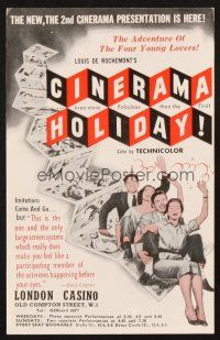 4c074 CINERAMA HOLIDAY English herald '56 makes you feel like a participating member of the movie!