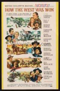 4c081 HOW THE WEST WAS WON Cinerama herald '62 all-star cast western epic directed by John Ford!