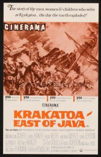4c076 KRAKATOA EAST OF JAVA English herald '69 the day that shook the Earth to its core, Cinerama!