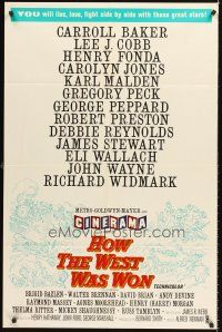 4c023 HOW THE WEST WAS WON int'l Cinerama 1sh '62 epic with all-star cast directed by John Ford!