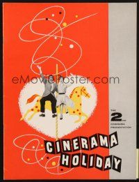 4c049 CINERAMA HOLIDAY program '56 makes you feel like a participating member of the movie!